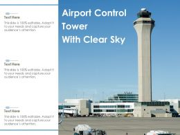 Airport Control Tower With Clear Sky