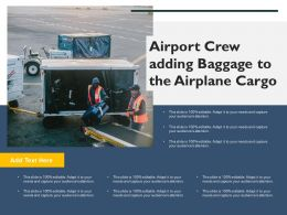 Airport Crew Adding Baggage To The Airplane Cargo