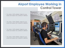 Airport Employee Working In Control Tower