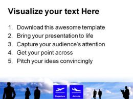 Airport Schedules Travel PowerPoint Templates And PowerPoint Backgrounds 0711  Presentation Themes and Graphics Slide03
