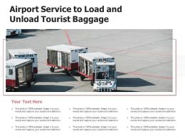 Airport Service To Load And Unload Tourist Baggage