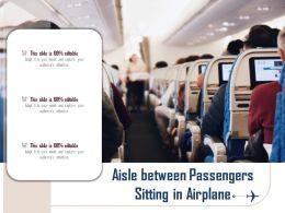Aisle Between Passengers Sitting In Airplane