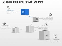 Aj Business Marketing Network Diagram Powerpoint Template Slide