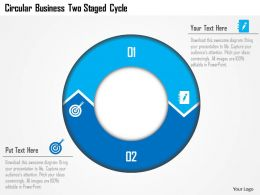 Aj Circular Business Two Staged Cycle Powerpoint Template