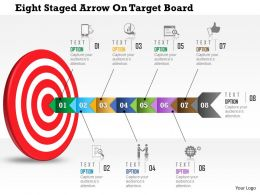 Aj Eight Staged Arrow On Target Board Powerpoint Templets