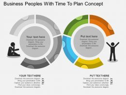 ak Business Peoples With Time To Plan Concept Flat Powerpoint Design