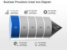 Ak Business Procedure Linear Icon Diagram Powerpoint Template Slide