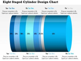 Ak Eight Staged Cylinder Design Chart Powerpoint Templets