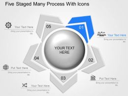 Ak Five Staged Many Process With Icons Powerpoint Template