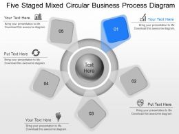 ak Five Staged Mixed Circular Business Process Diagram Powerpoint Template