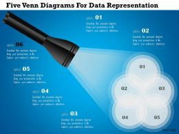 Ak Five Venn Diagrams For Data Representation Powerpoint Template
