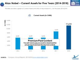 Akzo Nobel Current Assets For Five Years 2014-2018