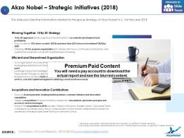 Akzo Nobel Strategic Initiatives 2018