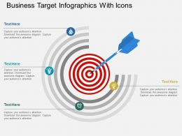 al Business Target Infographics With Icons Flat Powerpoint Design
