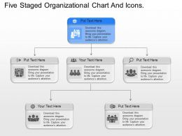 al Five Staged Organizational Chart And Icons Powerpoint Template