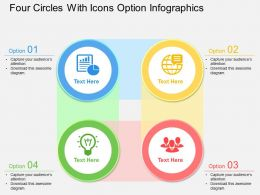 al Four Circles With Icons Option Infographics Flat Powerpoint Design
