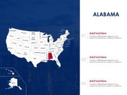 Alabama Map Powerpoint Presentation Ppt Template