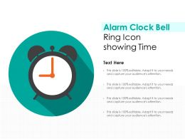 Alarm Clock Bell Ring Icon Showing Time