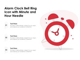 Alarm Clock Bell Ring Icon With Minute And Hour Needle