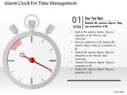 Alarm Clock For Time Management Flat Powerpoint Design