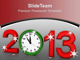 Alarm Clock New Year Festival PowerPoint Templates PPT Backgrounds For Slides 0113