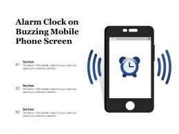 Alarm Clock On Buzzing Mobile Phone Screen