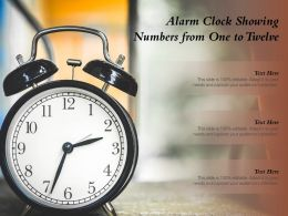 Alarm Clock Showing Numbers From One To Twelve