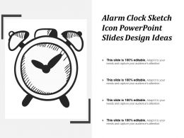 Alarm Clock Sketch Icon Powerpoint Slides Design Ideas