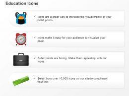 alarm_clock_suitcase_satchel_ruler_ppt_icons_graphics_Slide01