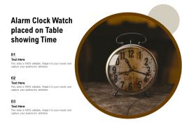 Alarm Clock Watch Placed On Table Showing Time