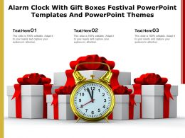 Alarm Clock With Gift Boxes Festival Powerpoint Templates And Powerpoint Themes