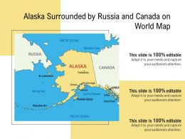 Alaska Surrounded By Russia And Canada On World Map