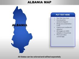 Albania Country Powerpoint Maps
