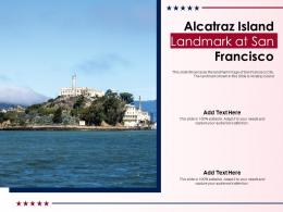 Alcatraz Island Landmark At San Francisco Powerpoint Template