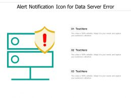 Alert Notification Icon For Data Server Error
