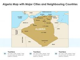 Algeria Map With Major Cities And Neighbouring Countries