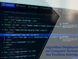 Algorithm Displayed On Computer Screen For Problem Solving