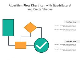 Algorithm Flow Chart Icon With Quadrilateral And Circle Shapes