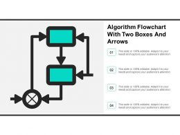 Algorithm Flowchart With Two Boxes And Arrows