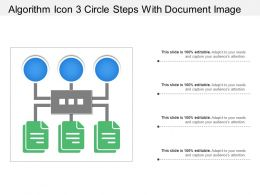 Algorithm Icon 3 Circle Steps With Document Image