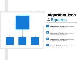 Algorithm Icon 4 Squares