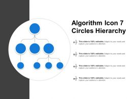Algorithm Icon 7 Circles Hierarchy