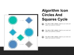 Algorithm Icon Circles And Squares Cycle