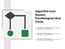 Algorithm Icon Square Parallelogram And Circle