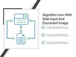 Algorithm Icon With Side Input And Document Image