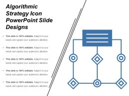 Algorithmic Strategy Icon Powerpoint Slide Designs