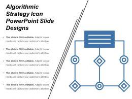 Algorithmic Strategy Icon Powerpoint Slide Designs