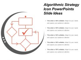 Algorithmic Strategy Icon Powerpoints Slide Ideas