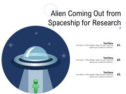 Alien Coming Out From Spaceship For Research