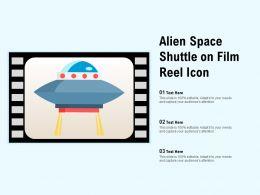 Alien Space Shuttle On Film Reel Icon
